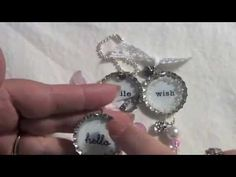 Bottle Cap Charms; make some cute bottle charms to go on a keychain, mini album, or wherever!