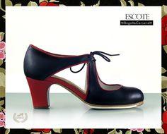 https://www.tamaraflamenco.com/es/zapatos-de-flamenco-profesionales-4 Zapato profesional de flamenco Begoña Cervera Modelo Escote