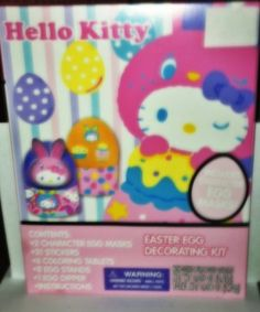 $16.99 Hello Kitty Easter Egg Decorating Kit PLUS 31 Stickers and Character Egg Masks by Sanrio, http://www.amazon.com/dp/B00BNY1UZQ/ref=cm_sw_r_pi_dp_Afjvrb1MB4GK7