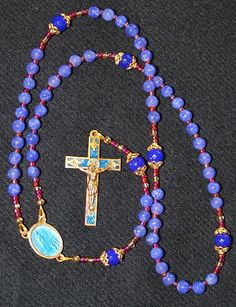 Catholic Rosary Genuine Round Clear Sapphire - Fatima Vintage Cross and Center Rosary Prayer, Holy Rosary, Rosary Catholic, Catholic Gifts, Religious Gifts, Religious Jewelry, Prayer Beads, Rosary Bracelet, Rosary Beads
