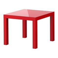 IKEA - LACK, Table d'appoint, brillant rouge, , Les surfaces très brillantes reflètent la lumière et donnent un aspect très vivant.Facile à monter.Léger donc facile à déplacer.