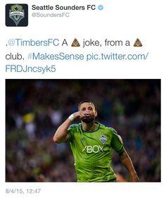 An MLS Team Made A Childish Joke About Rivals On Twitter. It Didn't Go Well. Seattle Sounders, Jokes, Wellness, Twitter, Sports, How To Make, Hs Sports, Husky Jokes, Memes