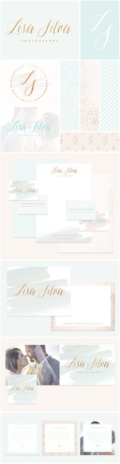 www.brandmebeautiful.co.uk | enquiries@brandmebeautiful.co.uk | Lisa Silva Brand Design #branding #branddesign #brand #mint #gold #logo #inspiration #colour #blush #nude #luxe