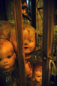Doll heads, love how spooky they look