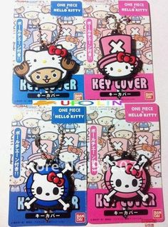 Capa de chave - One Piece x Hello Kitty - * Jelly Beans *