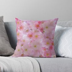 -  Vibrant double-sided print throw pillows to update any room.   -  Independent designs, custom printed when you order.   -  Soft and durable 100% spun polyester cover with an optional polyester fill/insert.   -  Concealed zip opening for a clean look and easy care.   . . . #pillows  #cushions  #bitsofeverywhere  #cherryblossomcushion #pinkflowers  #flowers