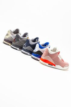 """Another year, another swath of great Air Jordan 3s by Jordan Brand. Returning flavors from the 2000s like the """"Cool Grey"""" join modern colorways by A Ma Maniere, and more, in showcasing the shoe's timeless style."""