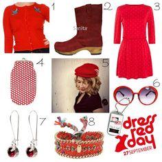 Dress Red Day  online fashion shopping inspiratie voor de jaarlijkse #DressRedDay #Hartstichting