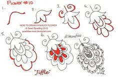 How to draw Paisley Flower 10 Jiffle by Quaddles-Roost