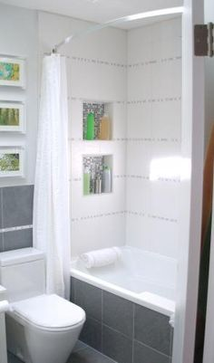 Built-in shelves in the shower would be awesome!