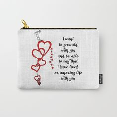 Chained Heart for valentines day Carry-All Pouch  Love bears all things, believes all things, hopes all things, endure all things, LOVE NEVER ENDS