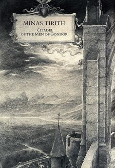 Alan Lee Minas Tirith (off 'Castles') Alan Lee, Middle Earth Books, Legolas And Tauriel, Minas Tirith, Hobbit Films, J. R. R. Tolkien, Fanart, Illustrations, Lord Of The Rings