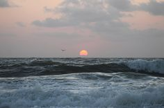 Dawn's Crashing Seas | Photographed from the shores of Ocean City MD USA by Robert J Banach | Available in Poster, Print, Canvas & More!  #oceancitycool