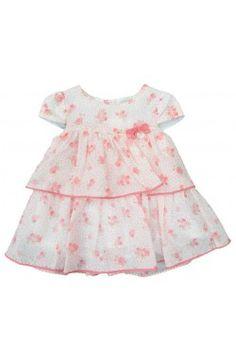 Vestido de bebé primavera verano color rosa Mayoral