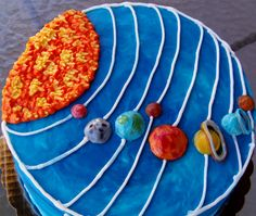 Planet cake or Solar system cake in ALL buttercream! http://www.facebook.com/nancysfancys81