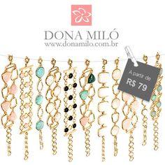 Lindas pulseiras, com banho.  donamilo.com.br