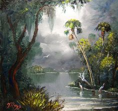 Old Florida River | Mazz Oil Paintings