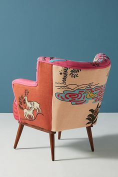 Slide View: 4: Imagined World Accent Chair