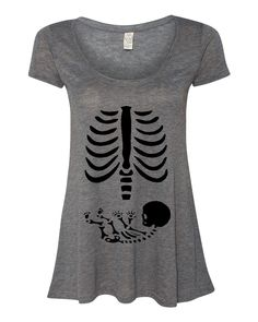 baby skeleton xray flowy tee for the newly expectant mom.