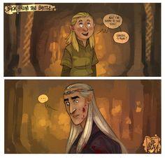 --- The Lord Of The Ring/The Hobbit --- Little Legolas Thranduil --- Poor little Lego ! LOTR - Where is mom? Lotr Elves, Mirkwood Elves, Hobbit Art, O Hobbit, Tolkien Books, Jrr Tolkien, Legolas And Thranduil, Legolas Funny, Elf Art