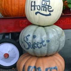 "Painted ""Home Sweet Home"" Pumpkins on Parade"