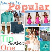"""TiP ONE : HOW TO BE POPULAR ."" by theteengirlhandbook ❤ liked on Polyvore"