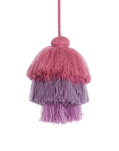 This decorative lavender yarn pom pom cluster is handmade by women in Mexico. This fair trade accessory is a perfect add-on to any gift! Bead Sewing, Fabulous Fabrics, Diy Party Decorations, Clever Diy, Accent Pieces, Fair Trade, Decorative Accessories, Jewelry Gifts, Beaded Jewelry