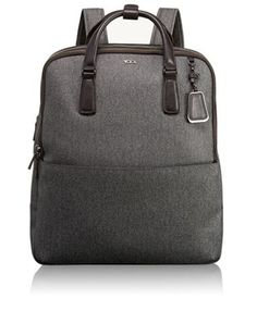 Sophisticated. Simple. Elegantly detailed. Sinclair is a modern collection of thoughtfully designed professional totes, briefs and carry-alls for women. This sophisticated new backpack, crafted from a lustrous fabric with leather trim, offers stylish hands-free adventures for the urban commuter with dedicated space for your digital essentials and everyday must-haves. Wear it on your back or carry it by top handle.