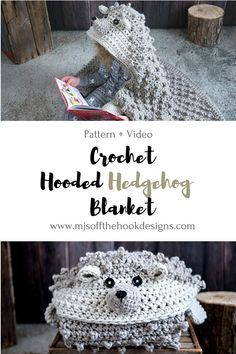 Hooded Woodland Hedgehog Blanket