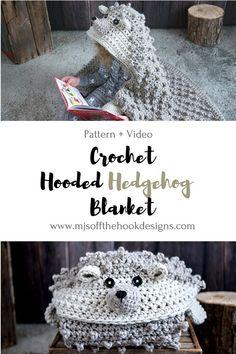 Hooded Woodland Hedgehog Blanket