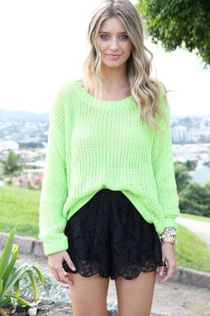 $48 neon lime knit