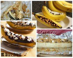 South African Recipes | BANANA BOATS Banana Boats, Gastronomy Food, South African Recipes, Sweet Pie, No Bake Cake, Sweet Tooth, Sweet Treats, Dessert Recipes, Snacks