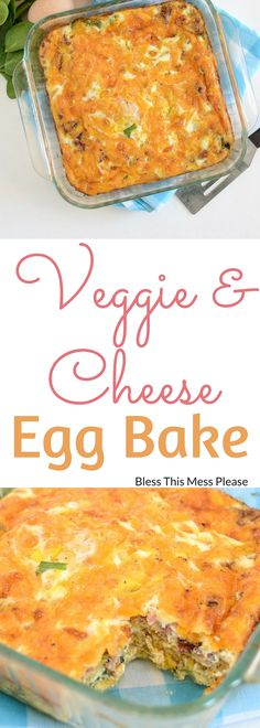 Easy Vegetable and Cheese Egg Bake ~ Few things are simpler than this egg and squash bake, but it's still very filling, full of flavor, and hearty. It's great for breakfast, brunch, and dinner.