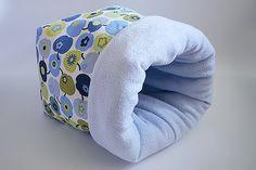 cat bed, dog bed, cat sleeping bag, dog sleeping bag, pet sleeping bag, cat cave, snuggle sack for cats (apples/light blue)