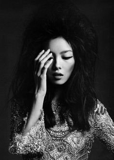 Glam Elegance - black & white fashion photography // Fei Fei Sun by Hedi Slimane for Vogue China