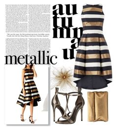 """metallic dress"" by mad-redhead ❤ liked on Polyvore featuring Rachel Zoe and Jigsaw"