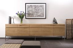 Solid wood sideboard with doors and drawers Solid wood sideboard Oak Ligna Collection by Ethnicraft Sideboard Modern, Solid Wood Sideboard, Sideboard Cabinet, Vintage Sideboard, Contemporary Living Room Furniture, Contemporary Decor, Modern Furniture, Side Board, Wood Furniture