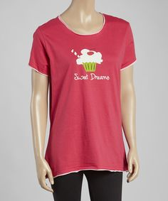 Love this Pink 'Sweet Dreams' Cupcake Sleep Top - Women by Lazy One on #zulily! #zulilyfinds
