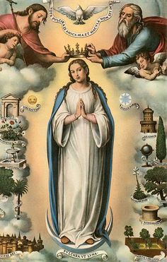 The Queenship of Mary.  Mary is crowned in Heaven.