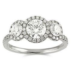 18k Diamond Engagement Ring from Borsheims.