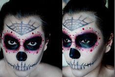 Day of the dead haloween makeup tutoral. So cool!