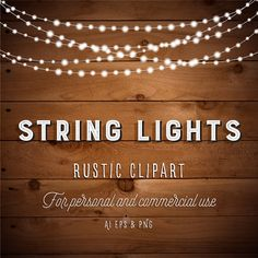 String Lights With Clips String Lights Clipart  Christmas Lights  Fairy Lights Clipart