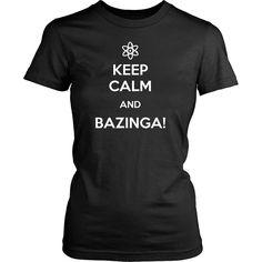 The Big Bang Theory T Shirt - Keep Calm And Bazinga - TV & Movies