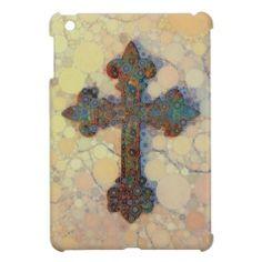 Artistic Mosaic Cross iPad Mini Case #zazzle #ipadmini