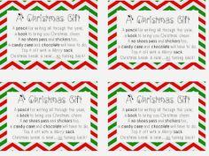 Student gift tags for christmas