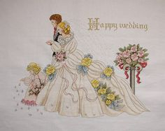 """Completed Cross Stitch 100% Hand-made Design count: 307sts wide X 227sts high  Fabric Size: 63cm X 47cm / Inch: 25"""" X 18"""" Fabric: 14-count white aida"""