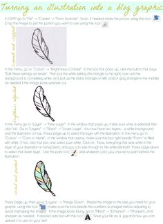 How to turn your hand-drawn illustration into a graphic for your blog