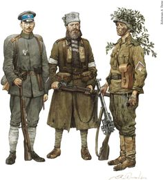 Soldiers of the German-created West Russian Volunteer Army in Latvia, 1919.