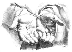 Christ's Hands PRINT of pencil drawing - Hand Praying Hands Drawing, Holding Hands Drawing, Drawing Hands, Drawings Of Hands, Christian Drawings, Christian Art, Drawing Sketches, Pencil Drawings, Art Drawings