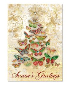 Punch studio christmas peacock christmas cards box 15 jeweled take a look at this butterfly tree greeting card set of 12 by punch studio m4hsunfo